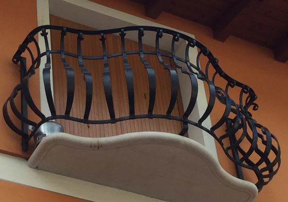 Balcone in Ferro battuto